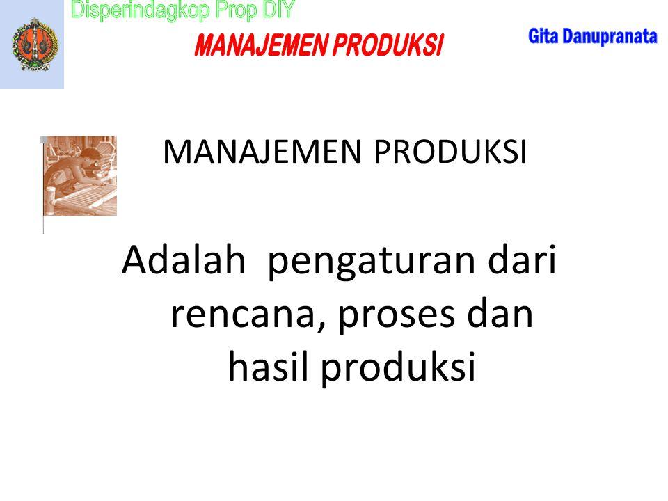 Adalah pengaturan dari rencana, proses dan hasil produksi
