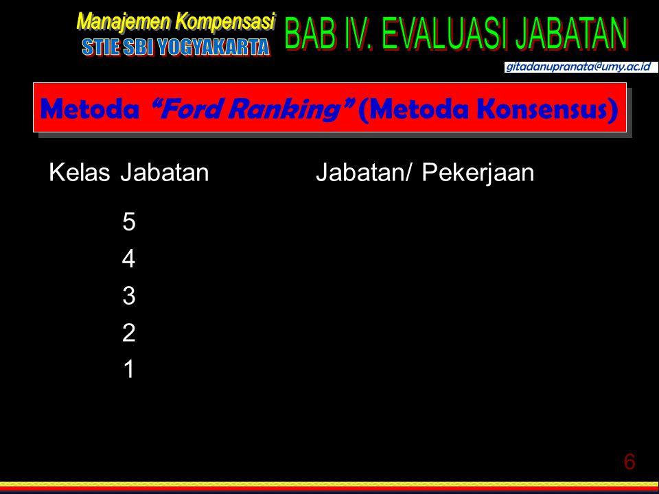 Metoda Ford Ranking (Metoda Konsensus)