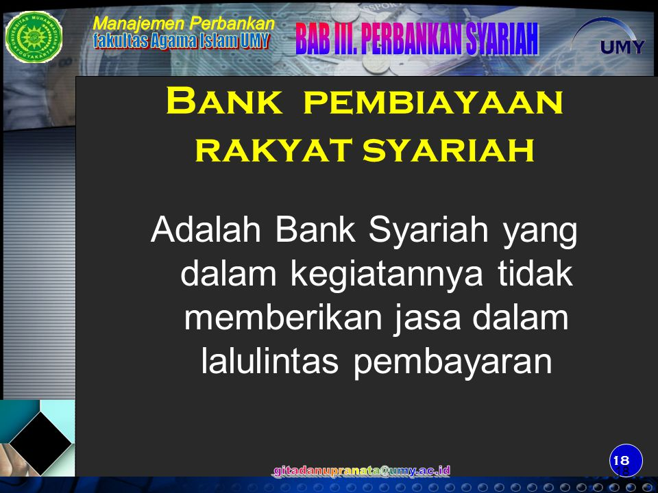 Bank pembiayaan rakyat syariah