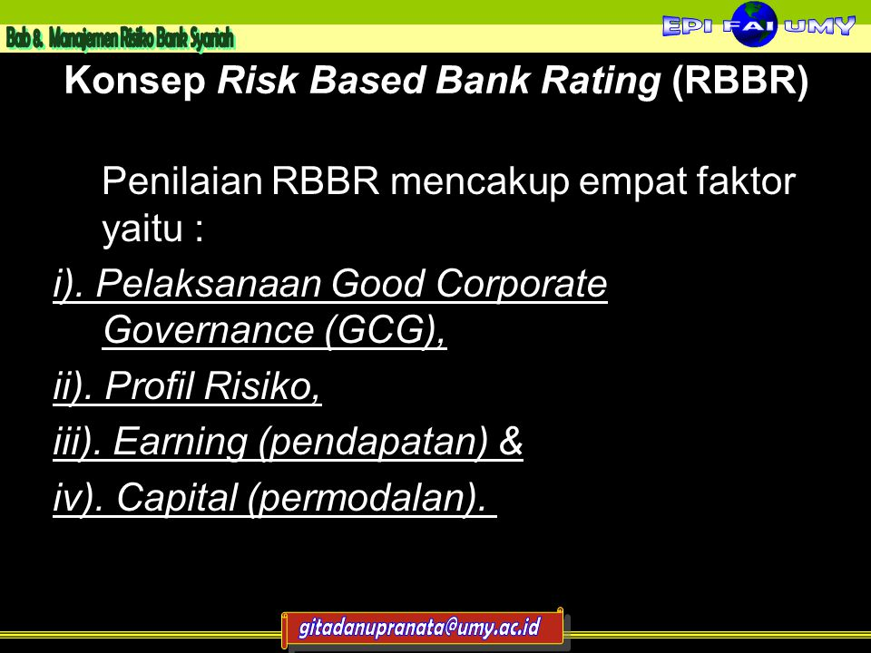 Konsep Risk Based Bank Rating (RBBR)