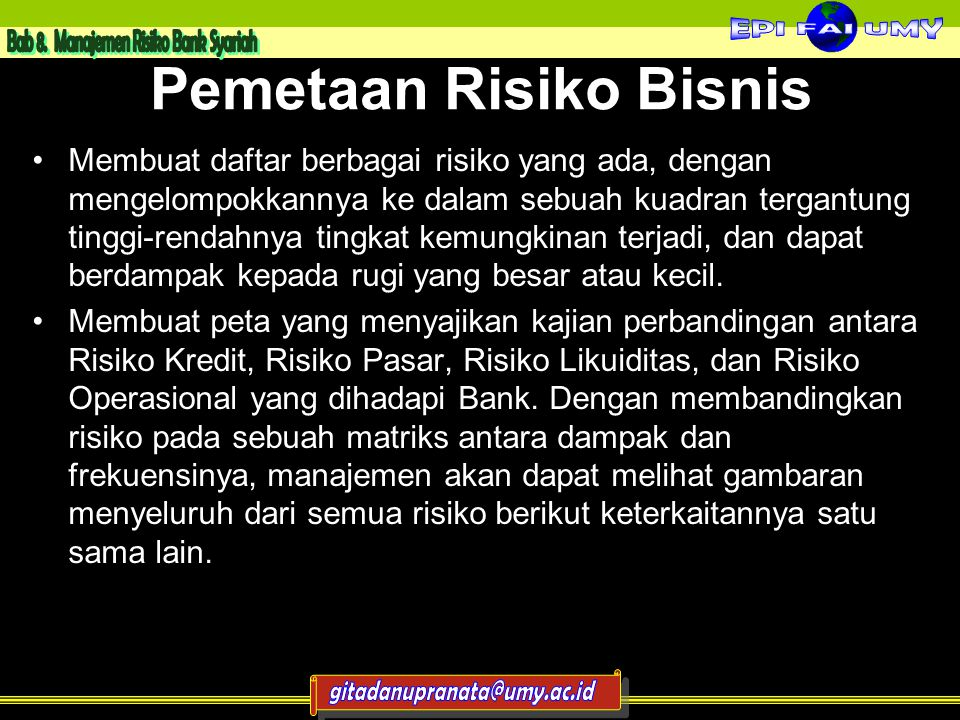 Pemetaan Risiko Bisnis