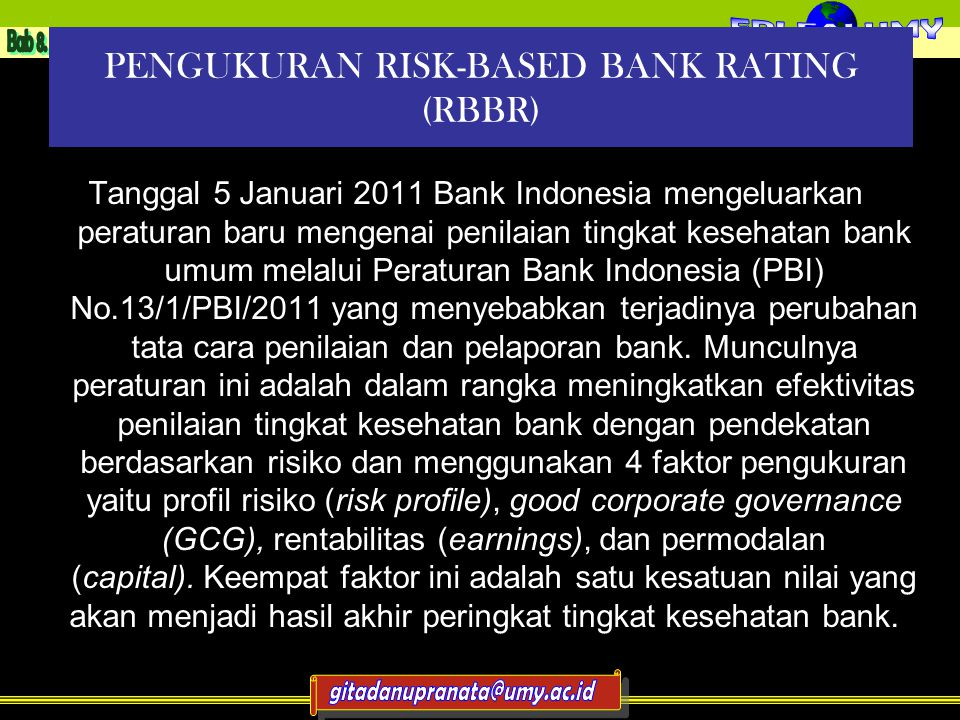 PENGUKURAN RISK-BASED BANK RATING (RBBR)