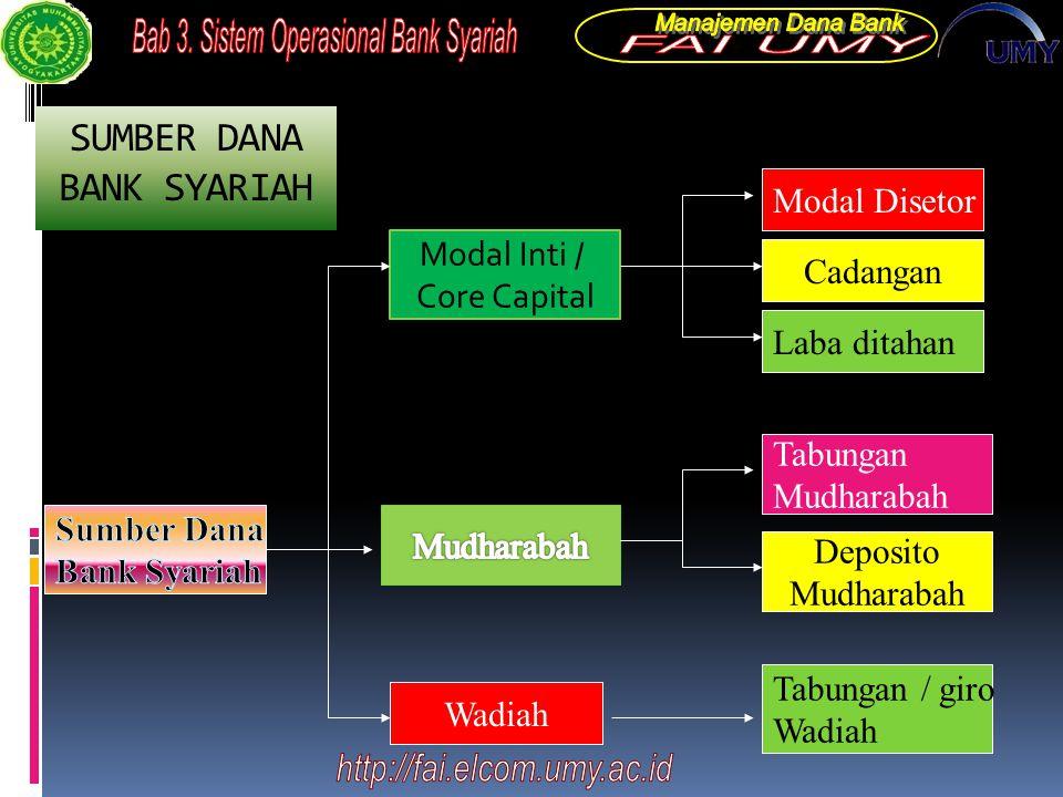 SUMBER DANA BANK SYARIAH