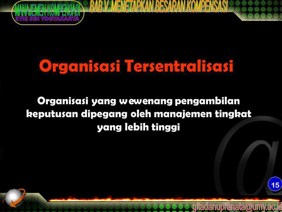 Organisasi Tersentralisasi