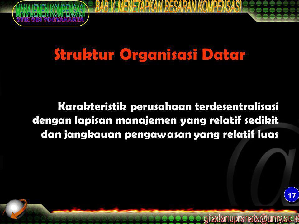 Struktur Organisasi Datar