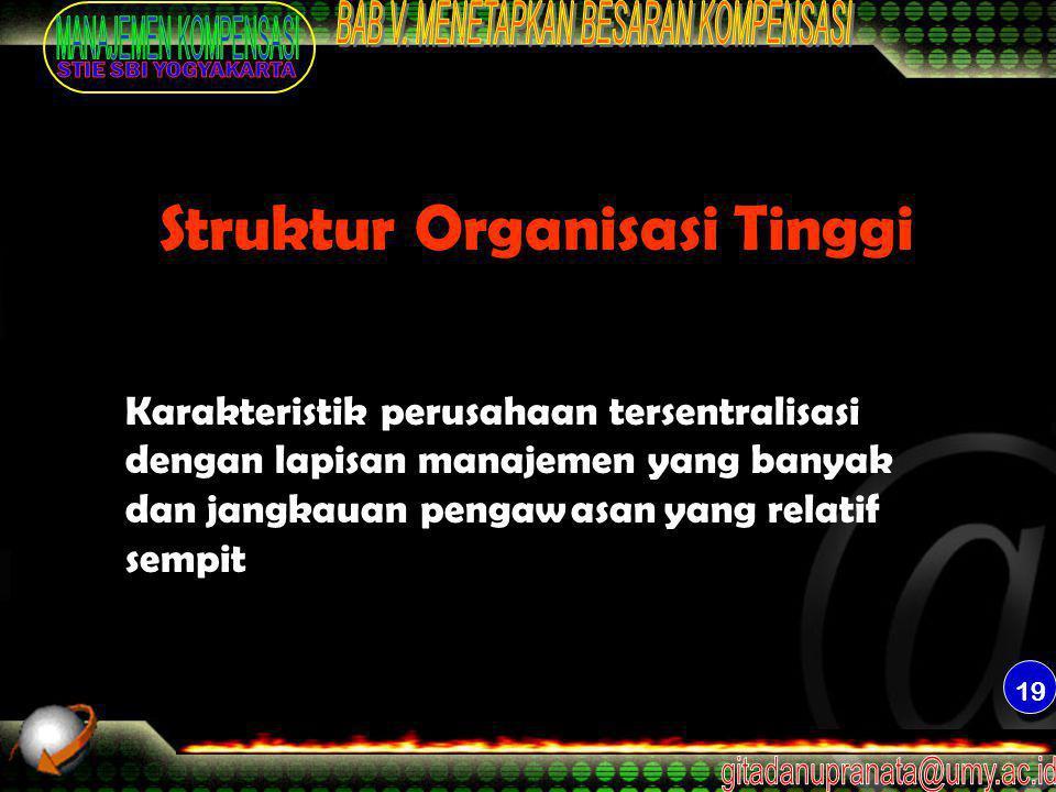 Struktur Organisasi Tinggi