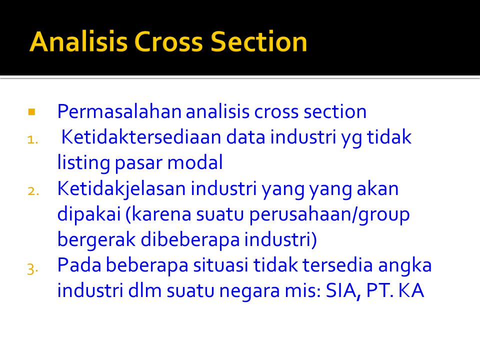 Analisis Cross Section