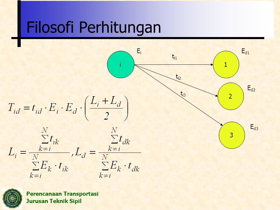 Filosofi Perhitungan Ei Ed1 i ti1 1 ti2 2 Ed2 ti3 3 Ed3