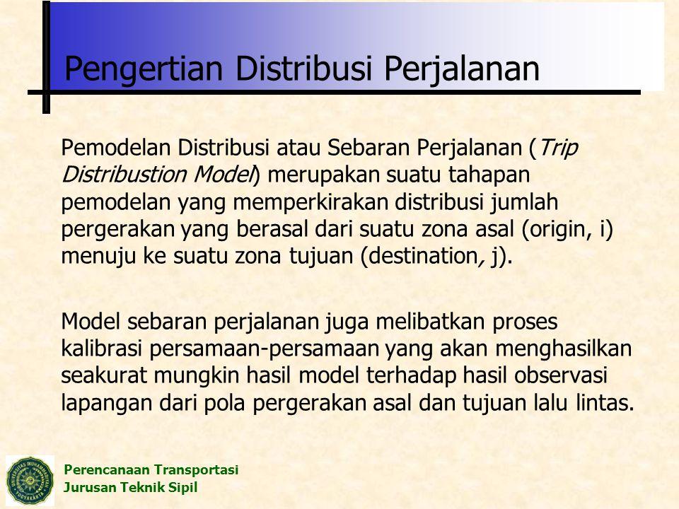 Pengertian Distribusi Perjalanan
