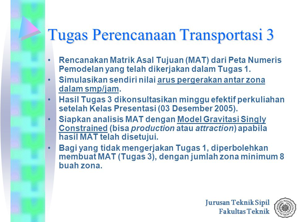 Tugas Perencanaan Transportasi 3