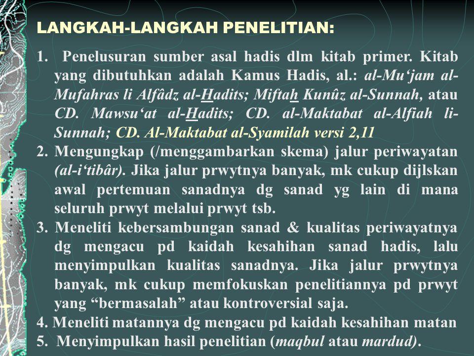 LANGKAH-LANGKAH PENELITIAN: