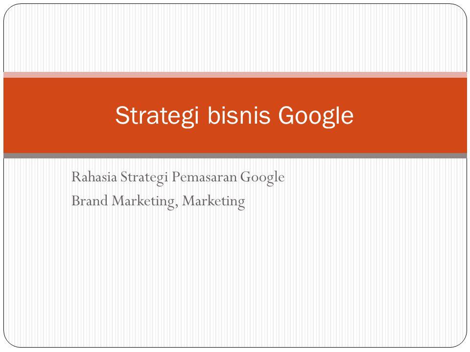Strategi bisnis Google