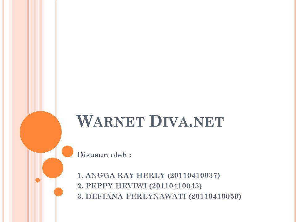 Warnet Diva.net Disusun oleh : 1. ANGGA RAY HERLY (20110410037)