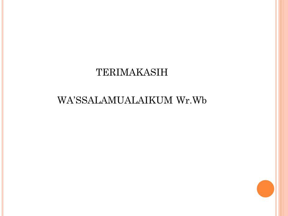 WA'SSALAMUALAIKUM Wr.Wb