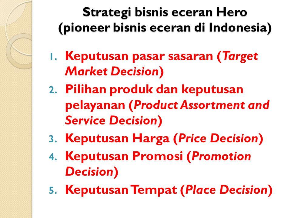 Strategi bisnis eceran Hero (pioneer bisnis eceran di Indonesia)