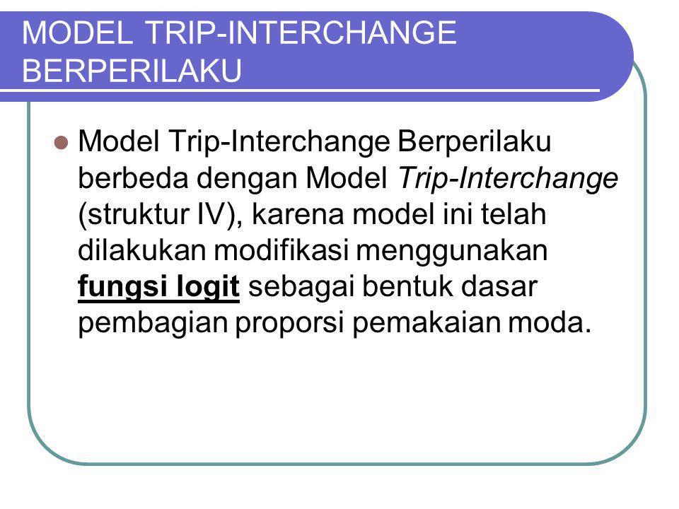 MODEL TRIP-INTERCHANGE BERPERILAKU