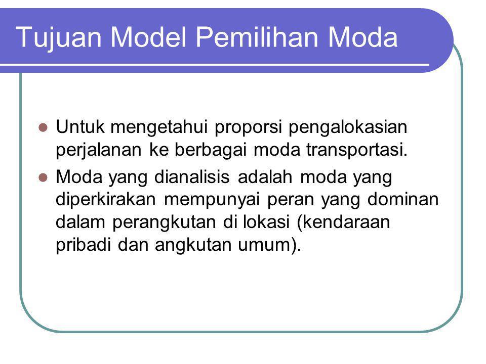 Tujuan Model Pemilihan Moda