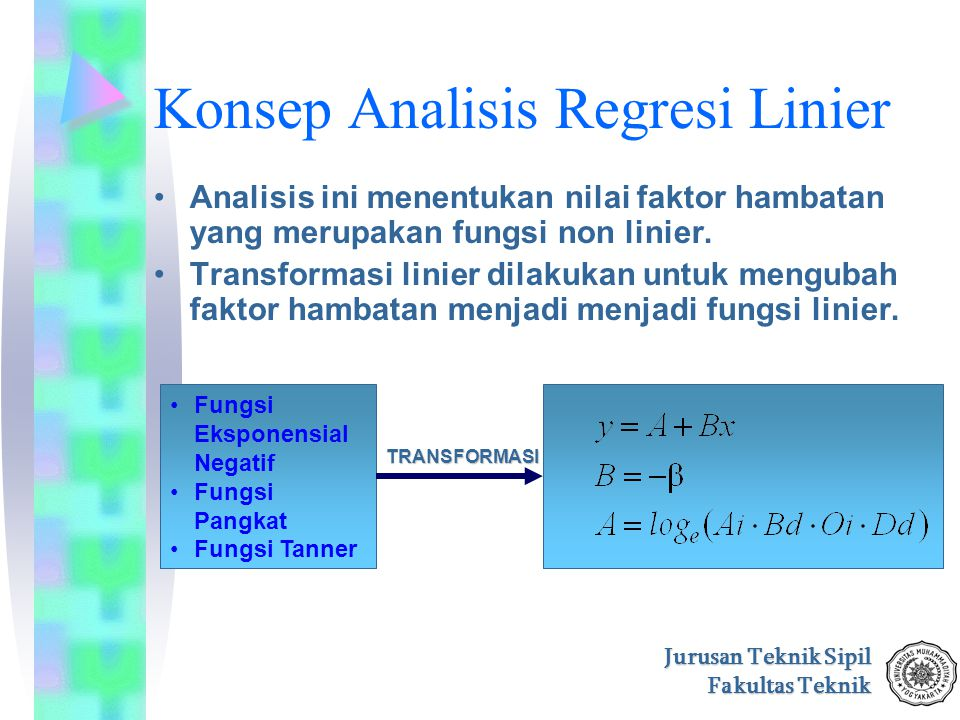 Konsep Analisis Regresi Linier