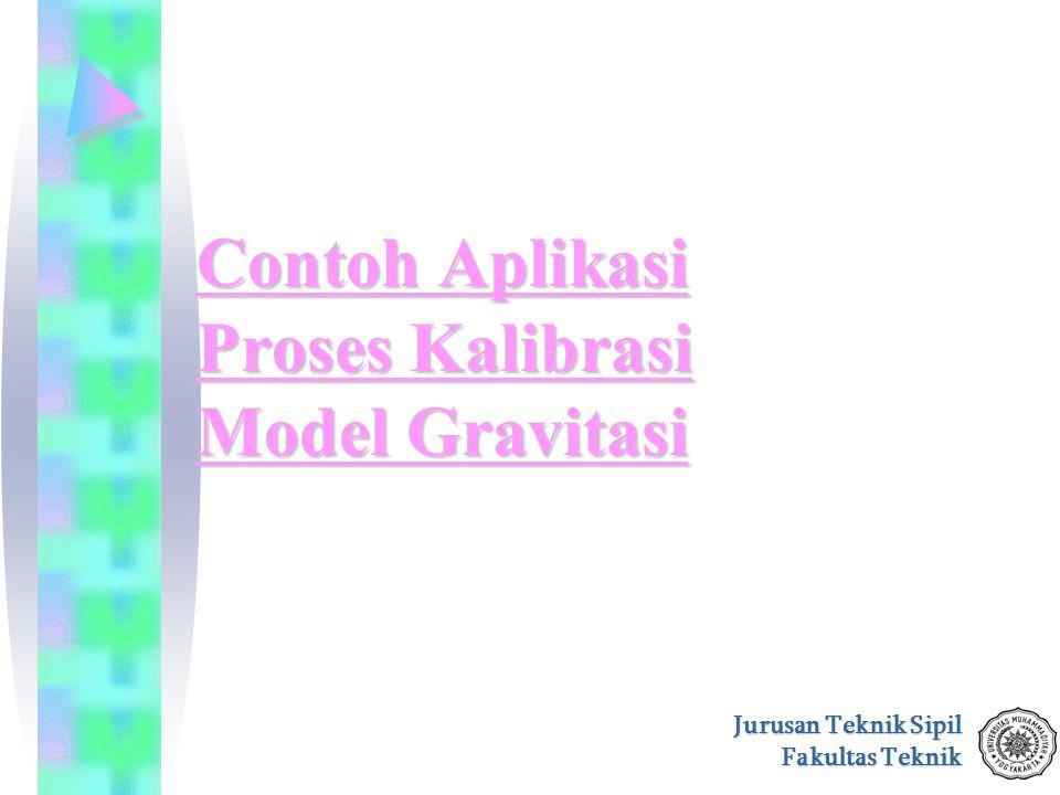 Contoh Aplikasi Proses Kalibrasi Model Gravitasi