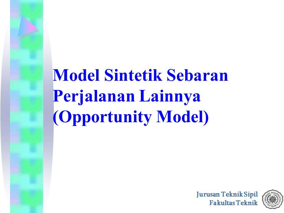 Model Sintetik Sebaran Perjalanan Lainnya (Opportunity Model)