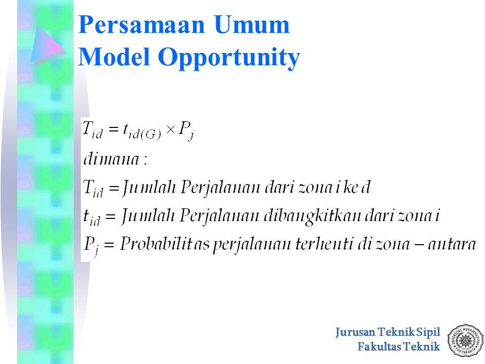 Persamaan Umum Model Opportunity