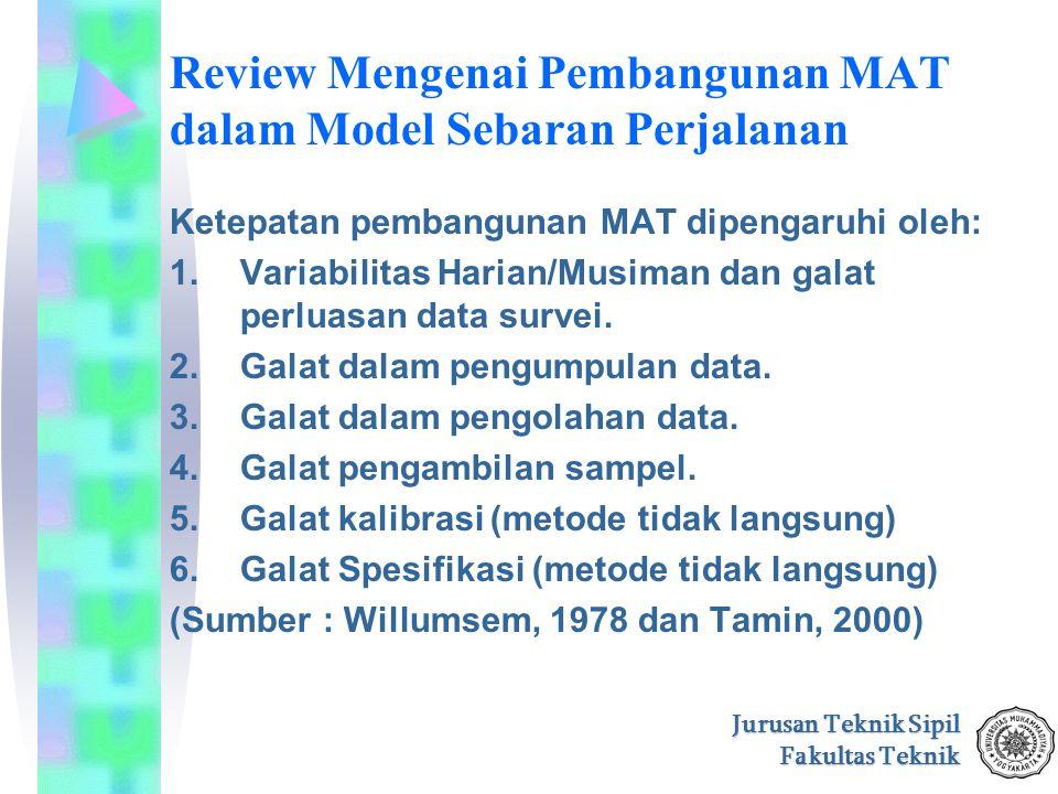 Review Mengenai Pembangunan MAT dalam Model Sebaran Perjalanan