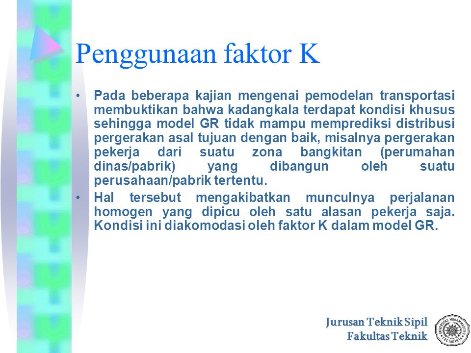 Penggunaan faktor K