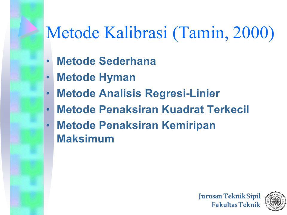 Metode Kalibrasi (Tamin, 2000)