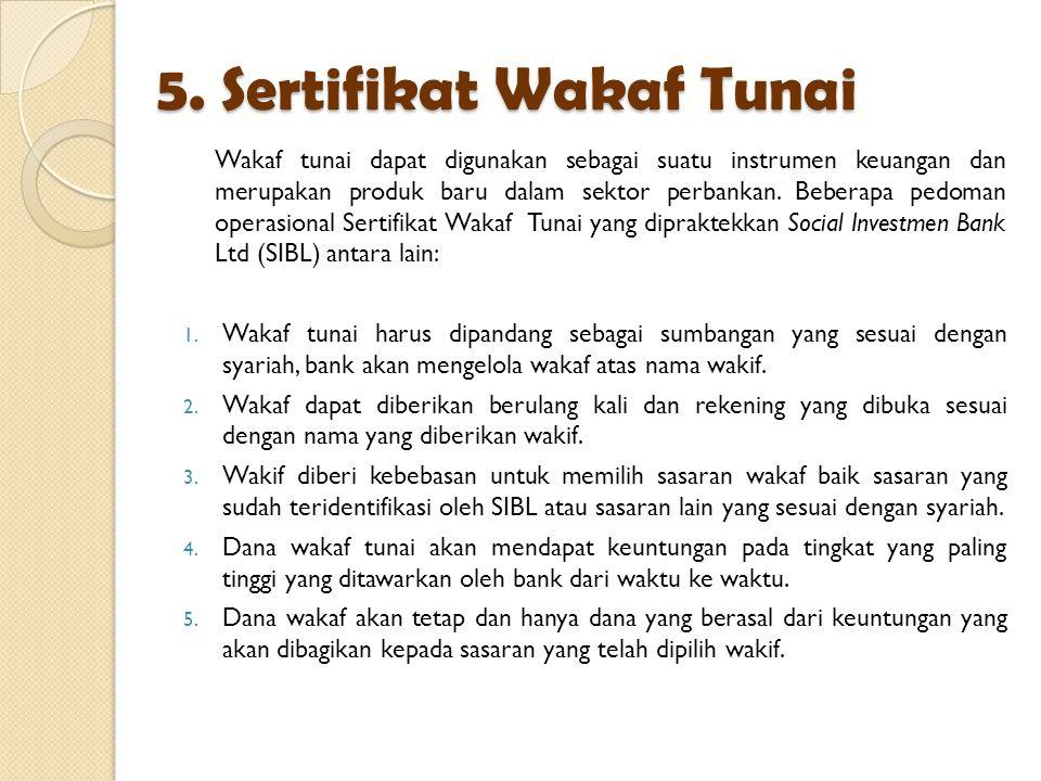 5. Sertifikat Wakaf Tunai