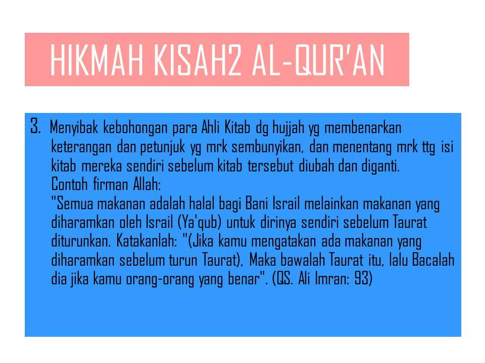 HIKMAH KISAH2 AL-QUR'AN