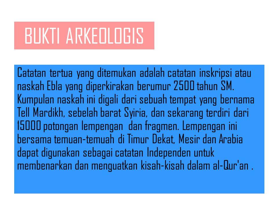 BUKTI ARKEOLOGIS