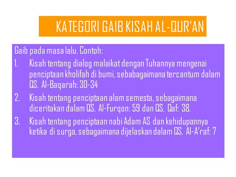 KATEGORI GAIB KISAH AL-QUR'AN