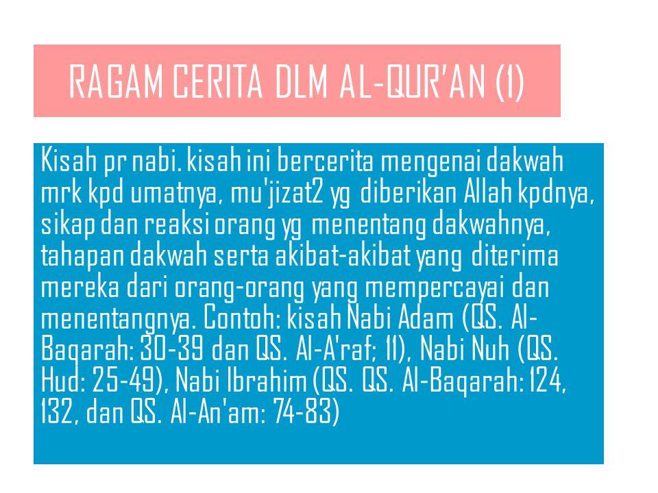 RAGAM CERITA DLM AL-QUR'AN (1)