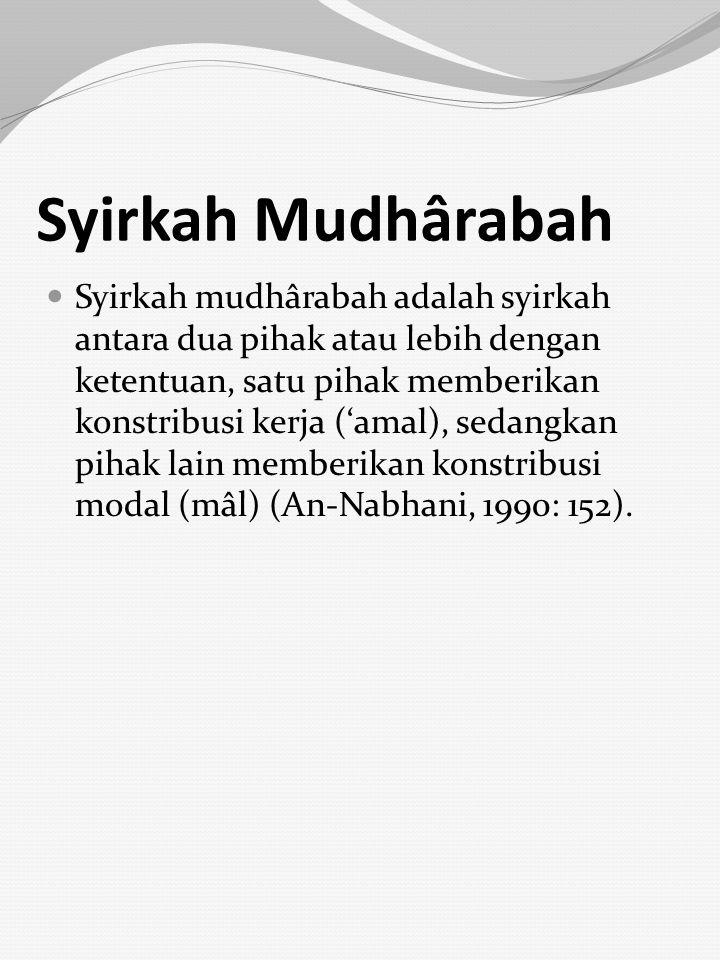Syirkah Mudhârabah