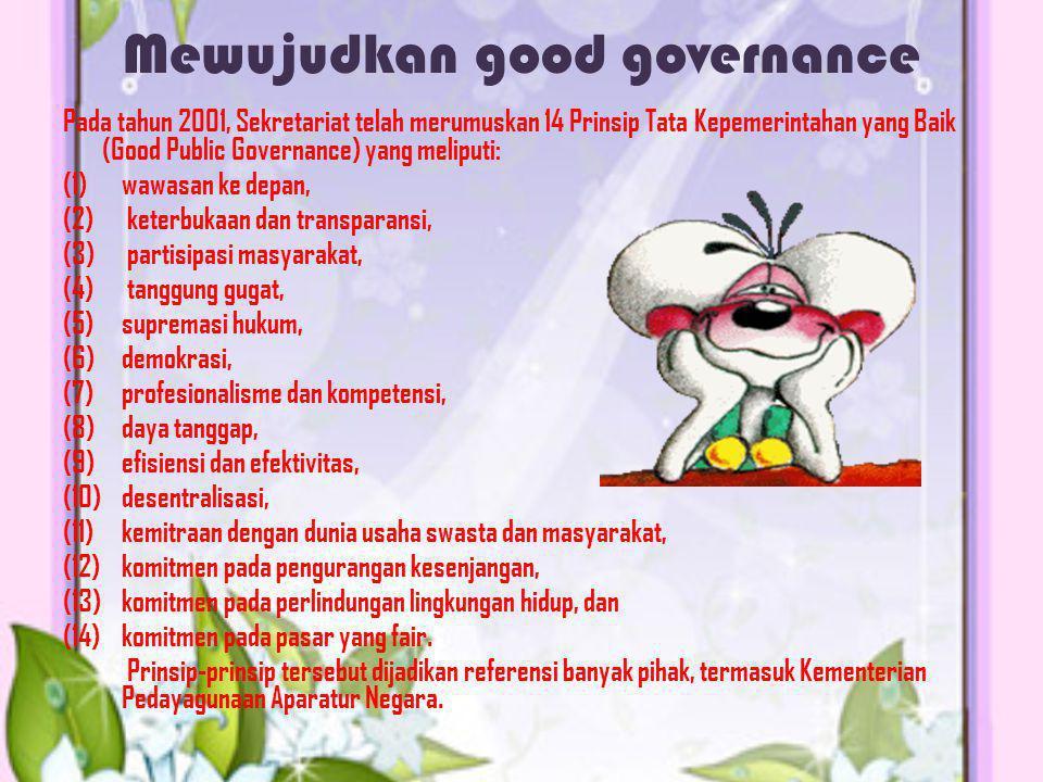 Mewujudkan good governance