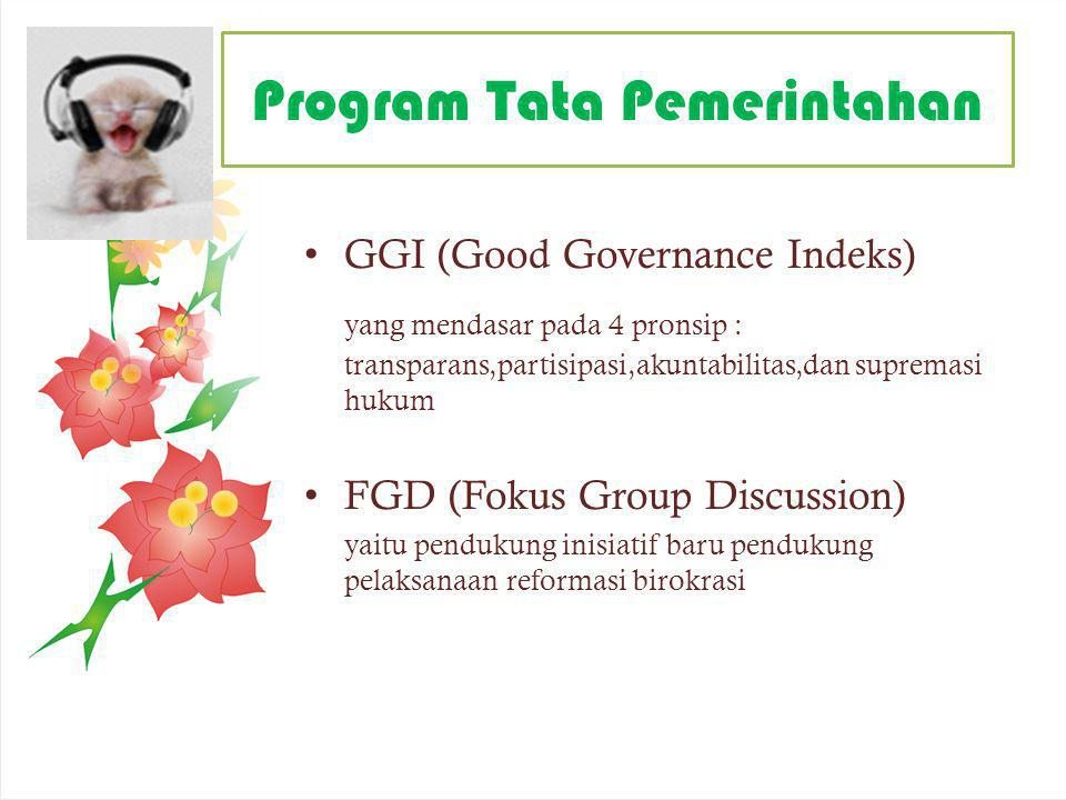 Program Tata Pemerintahan