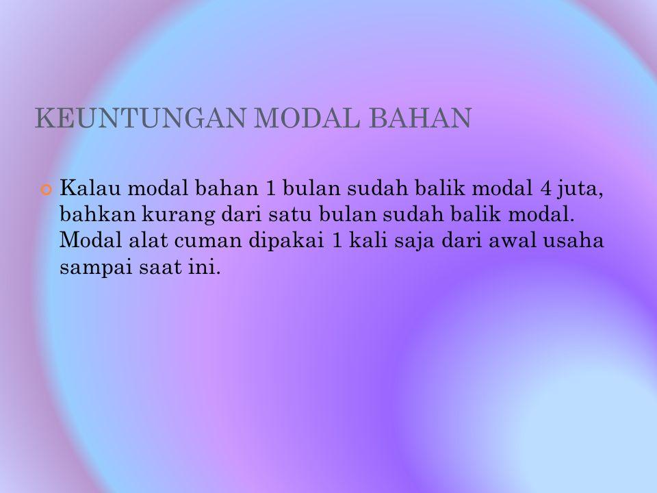 KEUNTUNGAN MODAL BAHAN