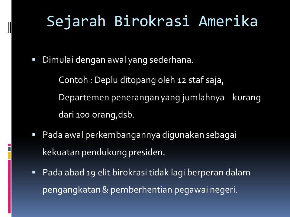 Sejarah Birokrasi Amerika