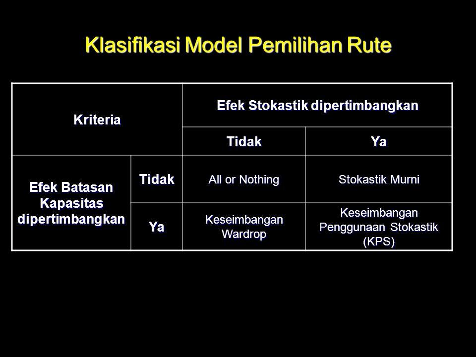 Klasifikasi Model Pemilihan Rute
