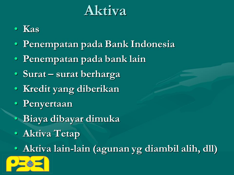Aktiva Kas Penempatan pada Bank Indonesia Penempatan pada bank lain