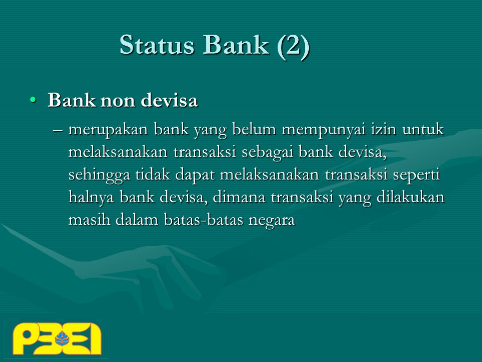 Status Bank (2) Bank non devisa