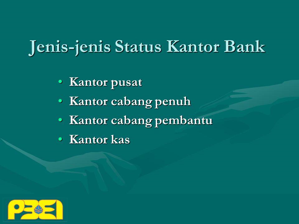 Jenis-jenis Status Kantor Bank