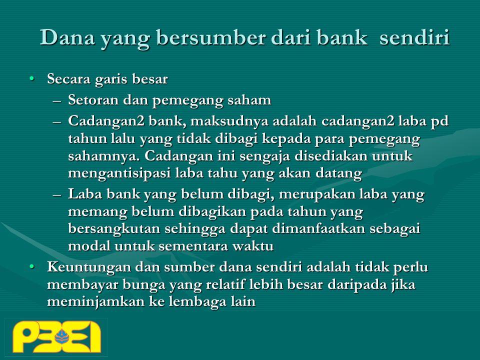Dana yang bersumber dari bank sendiri