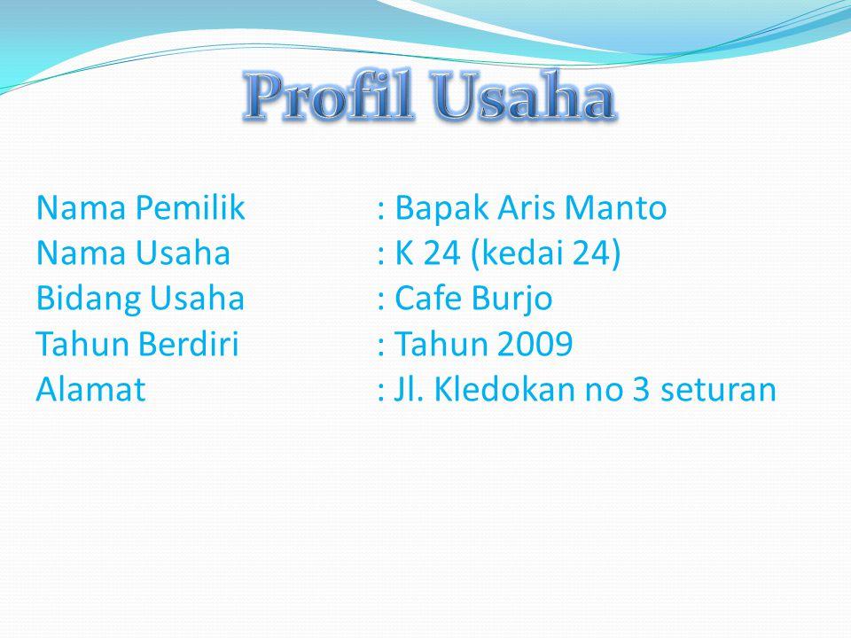 Profil Usaha Nama Pemilik : Bapak Aris Manto