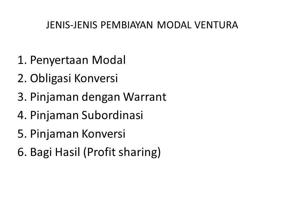 JENIS-JENIS PEMBIAYAN MODAL VENTURA