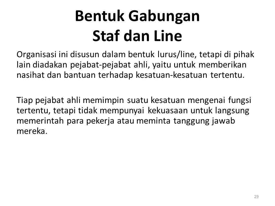 Bentuk Gabungan Staf dan Line