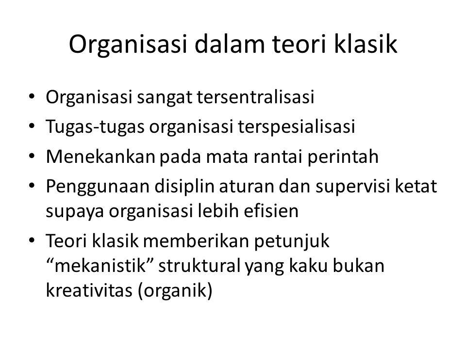 Organisasi dalam teori klasik
