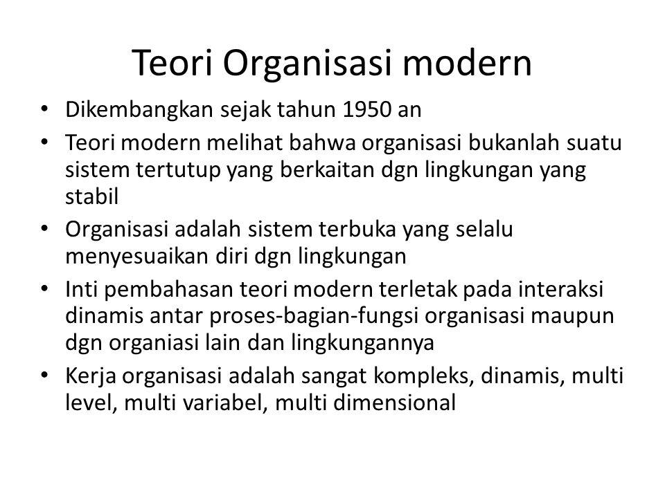 Teori Organisasi modern