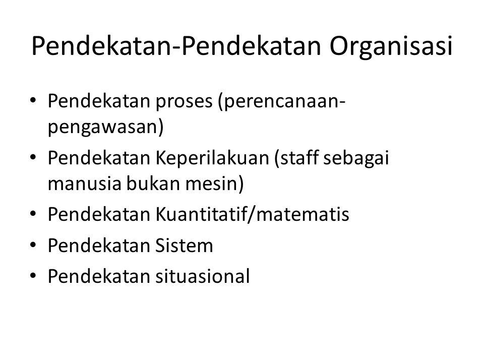 Pendekatan-Pendekatan Organisasi