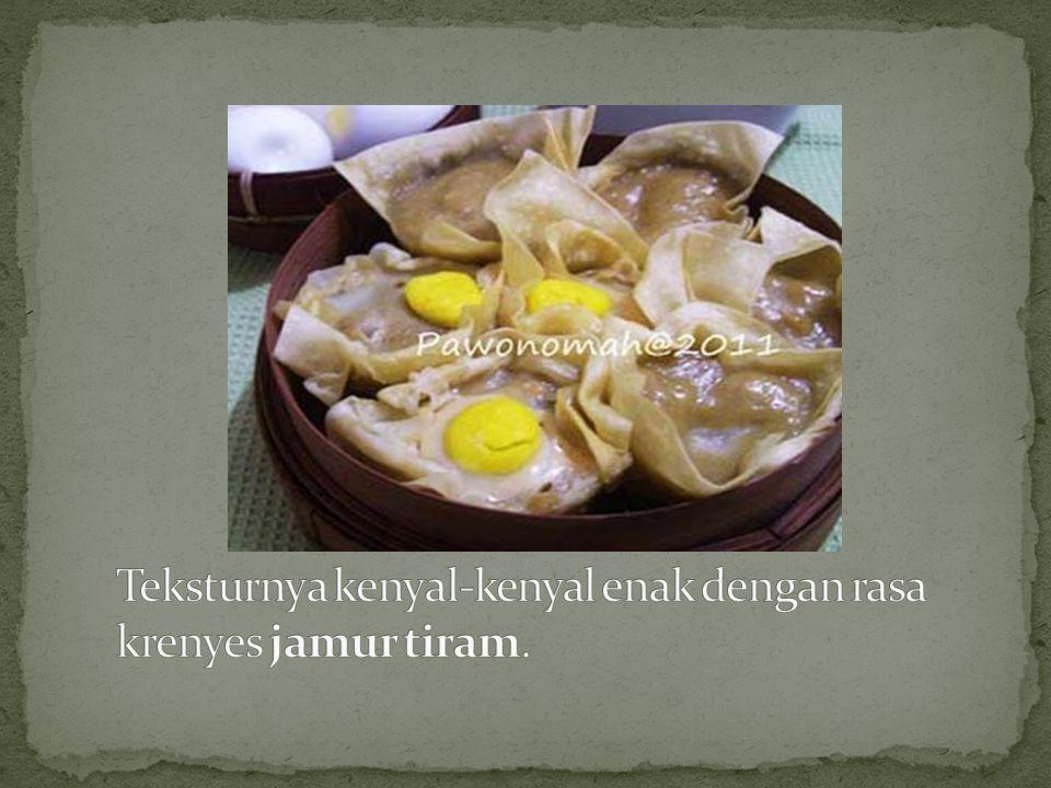 Teksturnya kenyal-kenyal enak dengan rasa krenyes jamur tiram.